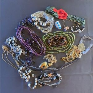 Lot of Costume Jewelry - 12 necklaces & MORE